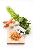 Cebola, cenoura e aipo Imagens de Stock