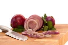 Cebola e salsa Fotos de Stock