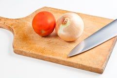 Cebola e tomate Imagem de Stock