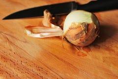 A cebola prepara-se Imagens de Stock Royalty Free