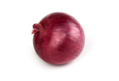 Cebola vermelha isolada Fotografia de Stock Royalty Free