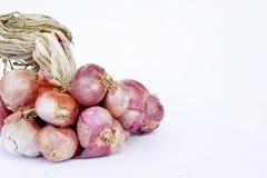 A cebola vermelha, vegetais, especiarias, flavor o ingrediente de alimento popular de A Fotografia de Stock Royalty Free