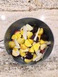 Cebolas & batatas imagem de stock royalty free