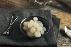 Cebolas brancas conservadas orgânicas do cocktail Fotografia de Stock Royalty Free
