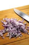 Cebolas de Cutted Fotografia de Stock