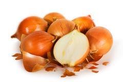 Cebolas frescas Imagens de Stock