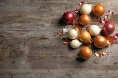 Cebolas frescas diferentes Imagens de Stock