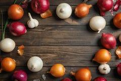 Cebolas frescas diferentes Imagem de Stock