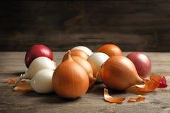 Cebolas frescas diferentes Fotografia de Stock Royalty Free