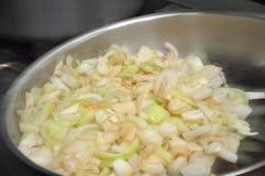 Cebolas fritadas Fotografia de Stock Royalty Free