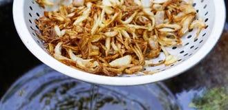Cebolas fritadas Fotografia de Stock