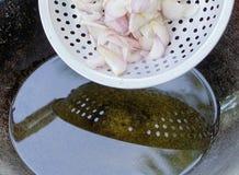 Cebolas fritadas Imagem de Stock