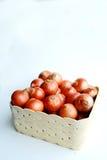 Cebolas no basket2 Foto de Stock Royalty Free