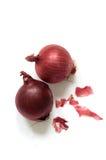 Cebolas vermelhas Fotografia de Stock