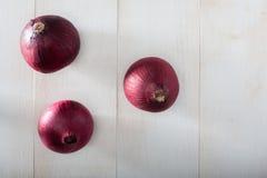 Cebolas vermelhas imagens de stock