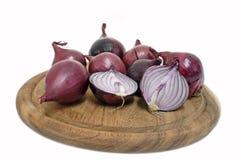 Cebolas vermelhas da salada Imagem de Stock Royalty Free