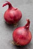Cebolas vermelhas frescas Foto de Stock