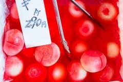 Cebolas vermelhas, Japão Imagem de Stock Royalty Free