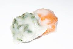 Cebolinha de alho cozinhado Fotografia de Stock Royalty Free
