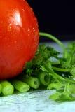 Cebolla del tomate, del perejil y del resorte Fotos de archivo