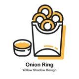 Cebolla Ring Lineal Color Illustration stock de ilustración