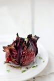 Cebolla roja asada Imágenes de archivo libres de regalías
