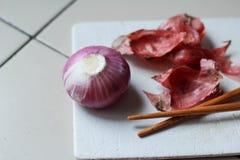 Cebolla roja fresca Imagen de archivo