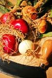 Cebolla roja y blanca Imágenes de archivo libres de regalías