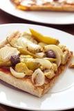 Cebolla y aceituna de la pizza Imagen de archivo