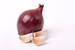 Cebolla y ajo Foto de archivo libre de regalías