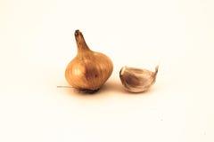 Cebolla y ajo Foto de archivo