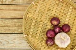 Cebolla y ajo Imagen de archivo libre de regalías