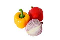 Cebollas de Peppersand Imagen de archivo libre de regalías