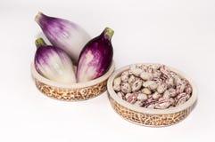 Cebollas del beansand de Borlotti Fotos de archivo