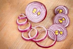 Cebollas rojas Foto de archivo libre de regalías