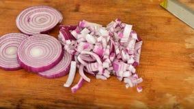 Cebollas tajadas Foto de archivo libre de regalías
