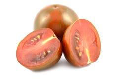 Cebra de los tomates de cereza Imágenes de archivo libres de regalías
