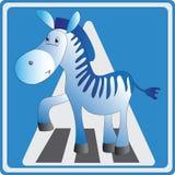 Cebra divertida crosswalk stock de ilustración