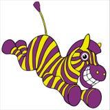 Cebra loca. stock de ilustración