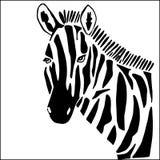 Cebra para colorear stock de ilustración