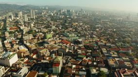 Modern city of Cebu with skyscrapers and buildings, Philippines. Cebu City, a major city on the island of Cebu, with skyscrapers and residential buildings in stock video footage