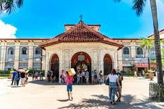 People who see Magellans Cross, Cebu city, Philippines. Cebu city, Philippines Apr 25,2018 - People who see Magellans Cross stock photo