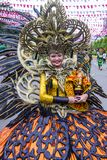 2018 Sinulog festival. CEBU CITY , PHILIPPINES - JAN 21 : Participant in the Sinulog festival in Cebu city Philippines on January 21 2018. The Sinulog is the Royalty Free Stock Photography
