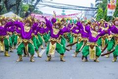 2018 Sinulog festival. CEBU CITY , PHILIPPINES - JAN 21 : Participants in the Sinulog festival in Cebu city Philippines on January 21 2018. The Sinulog is the Royalty Free Stock Photo