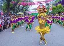 2018 Sinulog festival. CEBU CITY , PHILIPPINES - JAN 21 : Participants in the Sinulog festival in Cebu city Philippines on January 21 2018. The Sinulog is the Royalty Free Stock Image