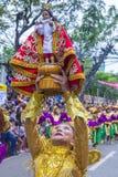 2018 Sinulog festival. CEBU CITY , PHILIPPINES - JAN 21 : Participants in the Sinulog festival in Cebu city Philippines on January 21 2018. The Sinulog is the Stock Images