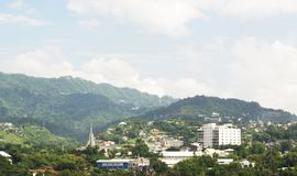 Cebu city skyline. View of Cebu City, Cebu, the Philippines Stock Photo