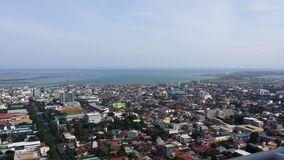 Cebu City View. And Shore Line. Photo taken on top of Cebu Crown Regency Hotels and Towers Stock Photography