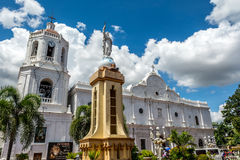 Cebu Metropolitan Cathedral. Under the blue sky and white cloud Stock Photography