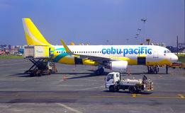 Cebu pacific airplane at manila airport Royalty Free Stock Image